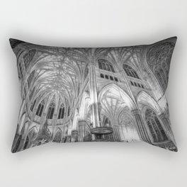 St Patrick's Cathedral New York Art Rectangular Pillow