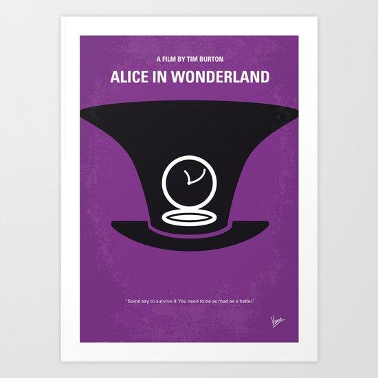 No140 My Alice in Wonderland minimal movie poster Art Print