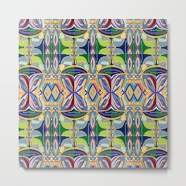 Butterfly mosaic - brightly colored pattern Metal Print
