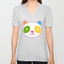 Rainbow Panda Unisex V-Neck