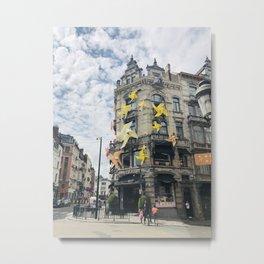 Pastry Shop in Belgium- Sunny Summer Pinwheels Metal Print