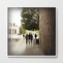 At the Getty... Closing Time Metal Print