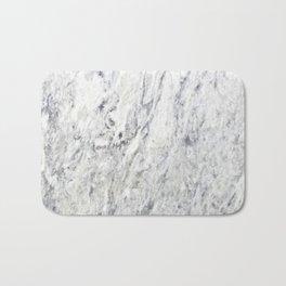 Vintage rustic gray white elegant marble Bath Mat