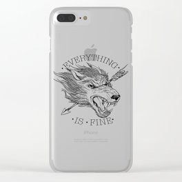 Everything is Fine Clear iPhone Case