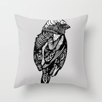 sparrow Throw Pillows featuring Sparrow by amyrose