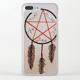 Devil's Trap Dreamcatcher Clear iPhone Case