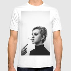 Cigarettes and the 60s MEDIUM Mens Fitted Tee White