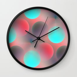 red and turquoise balls -2- Wall Clock