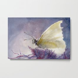 Dancing With Moonlit Wings Metal Print