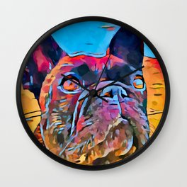 French Bulldog 6 Wall Clock