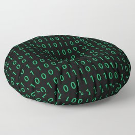 Pattern with binary code on dark background Floor Pillow