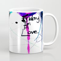 friday Mugs featuring Friday by Holly Sharpe