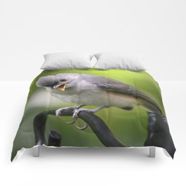 Teddy the Tufted Titmouse Comforters