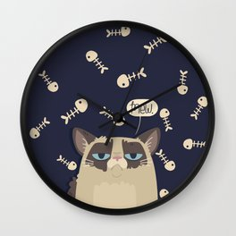 Grump for Days Wall Clock