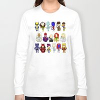 x men Long Sleeve T-shirts featuring X MEN GROUP by Space Bat designs