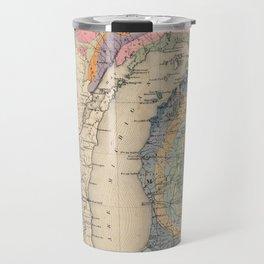 Vintage Michigan Geology Map (1873) Travel Mug