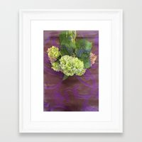 hydrangea Framed Art Prints featuring hydrangea by Federico Faggion