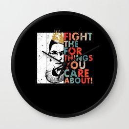 Quote Ruth Bader Ginsburg Wall Clock