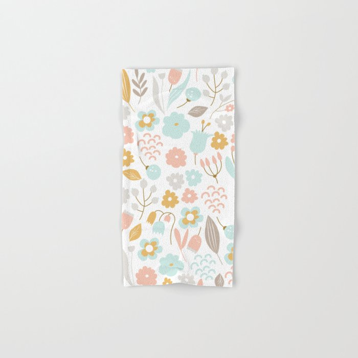 Cute flower pattern Hand & Bath Towel