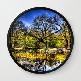 The quite Pond Wall Clock
