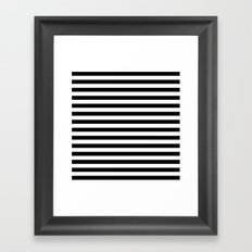 Modern Black White Stripes Monochrome Pattern Framed Art Print