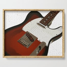 Electric Guitar Serving Tray
