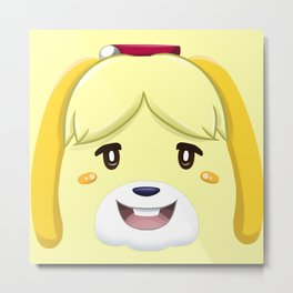 Animal Crossing Isabelle Metal Print