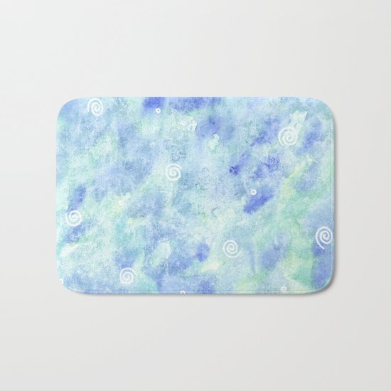 Blue lagoon Bath Mat