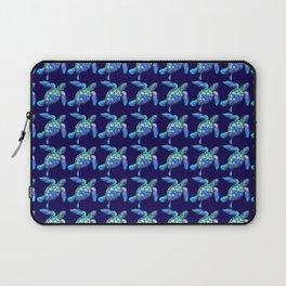 Sea Turtle Pattern Blue Laptop Sleeve