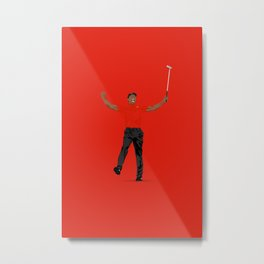 Tiger Woods Masters Champ (RED) Metal Print