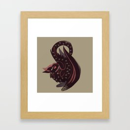 The Bravest Dragon Framed Art Print