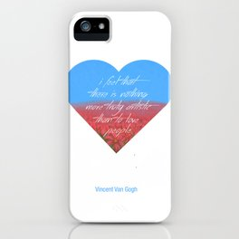 Love is Artistic iPhone Case