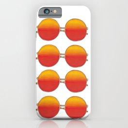 Bright sunset retro sunglasses pattern iPhone Case
