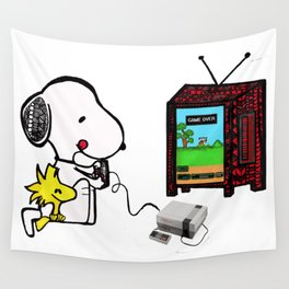 Game on Snoopy Wall Tapestry