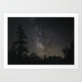 Look at the stars, look how they shine for you   Landscape milky way print galaxy nature sky photo Art Print