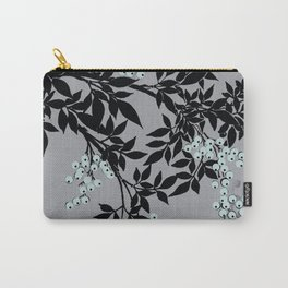 TREE BRANCHES BLACK AND GRAY WITH BLUE BERRIES Carry-All Pouch