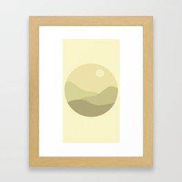 Minimal Meadow Day Framed Art Print