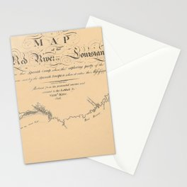 Map of the Red River 1806 Stationery Cards