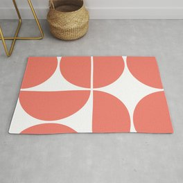 Mid Century Modern Living Coral Square Rug