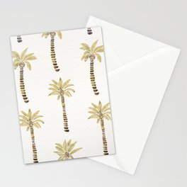 Mediterranean Palm Trees – Gold Palette Stationery Cards