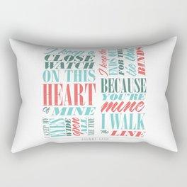 Walk the Line Rectangular Pillow