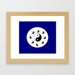 Yin and Yang 14 - Tao,Zen,Taoism,Dao,Harmony,religion,buddhism,buddhist,taijitu,taiji,taoist,china Framed Art Print