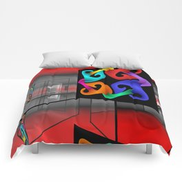picture of an exhibition Comforters
