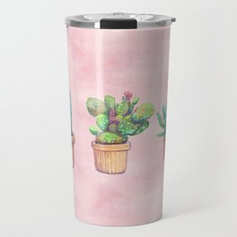 evolution cactus to pineapple water color Travel Mug