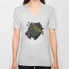 The World Has Teeth Unisex V-Neck