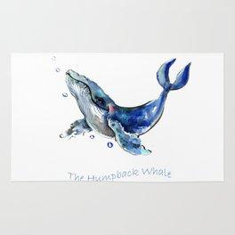 Whale Artowrk, Humpback Whale Rug