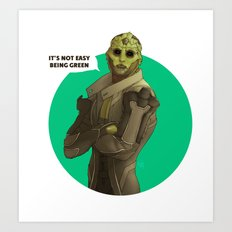 Not easy being green Art Print