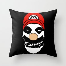 Misfit Mario Throw Pillow