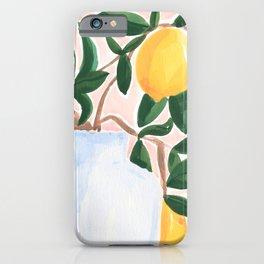 Lemon Tree Branch in a Vase II iPhone Case