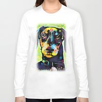 dachshund Long Sleeve T-shirts featuring Dachshund by Gary Grayson